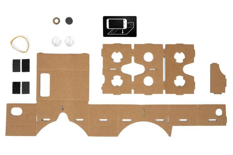 Google Cardboard przed złożeniem