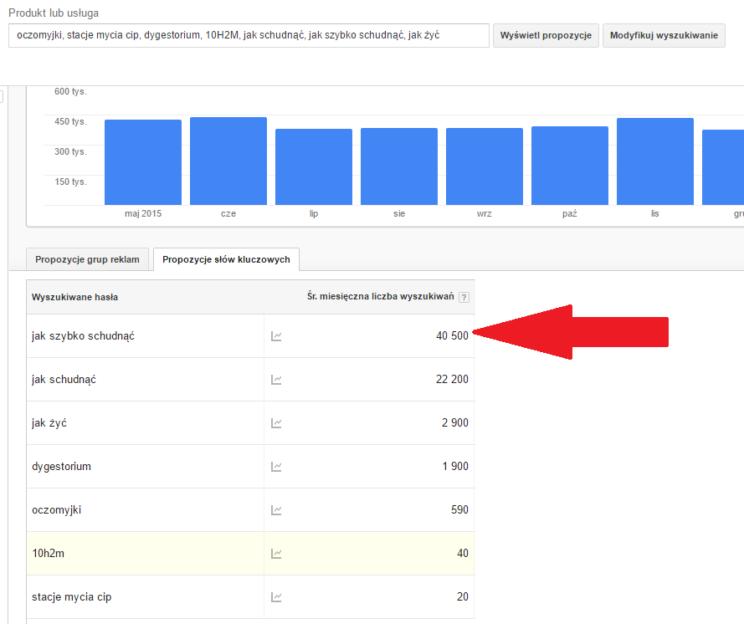 Planer słów kluczowych – Google AdWords